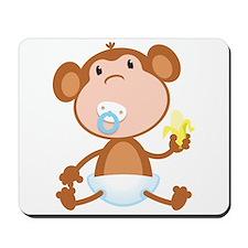 Pacifier Monkey Mousepad