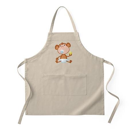 Pacifier Monkey BBQ Apron