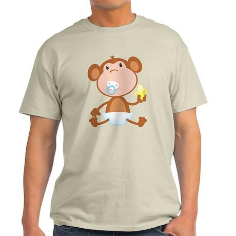 Pacifier Monkey Light T-Shirt