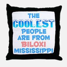 Coolest: Biloxi, MS Throw Pillow