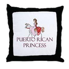 Puerto Rican Princess Throw Pillow