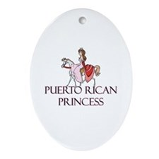 Puerto Rican Princess Oval Ornament