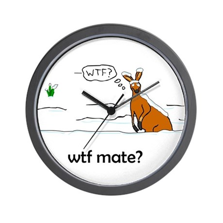 WTF Mate Wall Clock