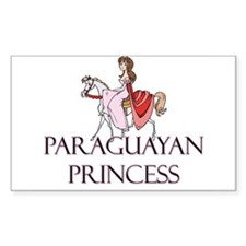 Paraguayan Princess Rectangle Decal