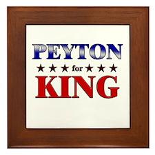 PEYTON for king Framed Tile