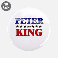 "PETER for king 3.5"" Button (10 pack)"