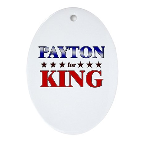PAYTON for king Oval Ornament