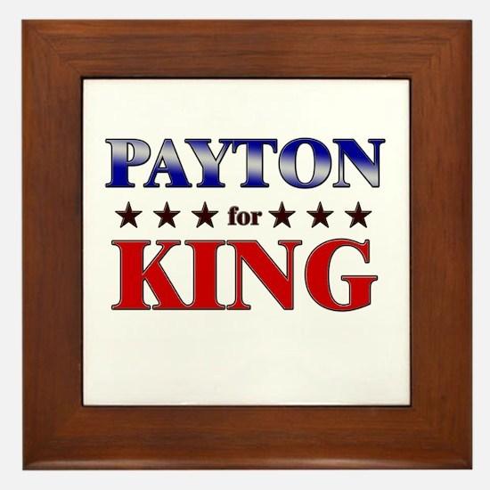 PAYTON for king Framed Tile