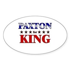 PAXTON for king Oval Decal