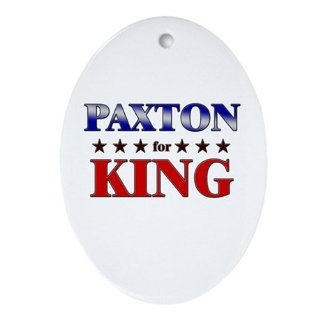 PAXTON for king Oval Ornament