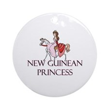 New Guinean Princess Ornament (Round)