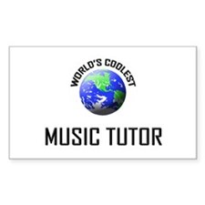 World's Coolest MUSIC TUTOR Rectangle Decal