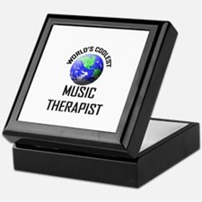 World's Coolest MUSIC THERAPIST Keepsake Box