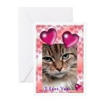 I LOVE you  Greeting Cards (Pk of 10)