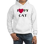 I LOVE MY CAT Hooded Sweatshirt