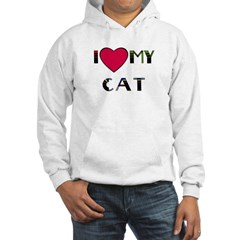 I LOVE MY CAT Hoodie