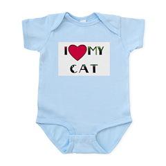I LOVE MY CAT Infant Creeper