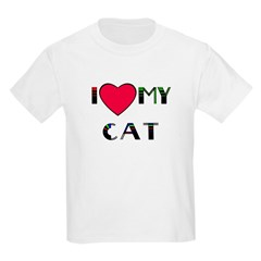 I LOVE MY CAT Kids T-Shirt