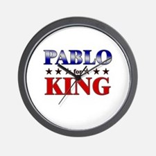 PABLO for king Wall Clock