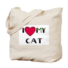 I LOVE MY CAT detroit Tote Bag