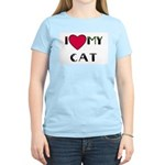 I LOVE MY CAT Women's Pink T-Shirt