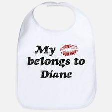 Kiss Belongs to Diane Bib