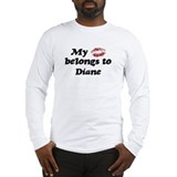 My kiss belongs to megan Long Sleeve T-shirts