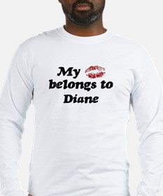 Kiss Belongs to Diane Long Sleeve T-Shirt