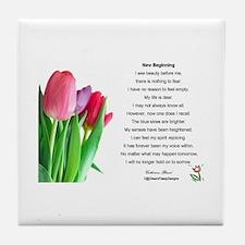 New Beginning Poem Tile Coaster