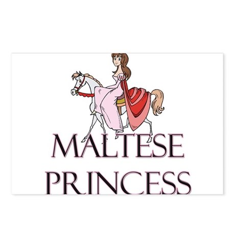 Maltese Princess Postcards (Package of 8)