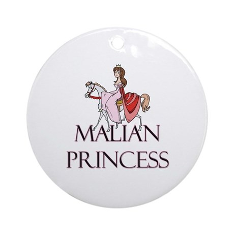 Malian Princess Ornament (Round)