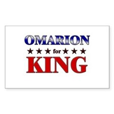OMARION for king Rectangle Decal