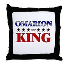 OMARION for king Throw Pillow