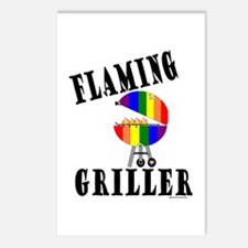 FLAMING GRILLER Postcards (Package of 8)