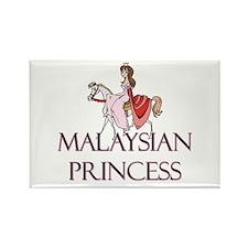 Malaysian Princess Rectangle Magnet