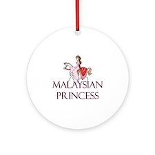 Malaysian Princess Ornament (Round)