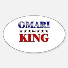 OMARI for king Oval Decal