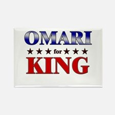 OMARI for king Rectangle Magnet