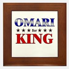OMARI for king Framed Tile