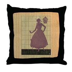 Marchbanks Press Vintage Ad Throw Pillow