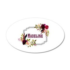Personalized Floral Wreath Monogram Wall Decal