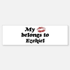Kiss Belongs to Ezekiel Bumper Bumper Bumper Sticker