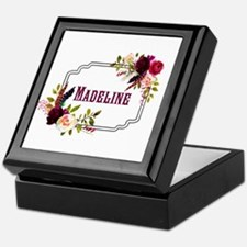 Personalized Floral Wreath Monogram Keepsake Box
