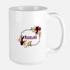 Personalized Floral Wreath Monogram Mugs