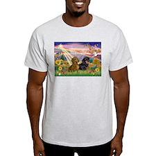 Autumn Angel & Dachshund Pair T-Shirt