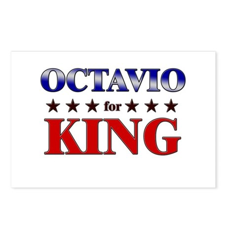 OCTAVIO for king Postcards (Package of 8)
