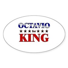 OCTAVIO for king Oval Decal