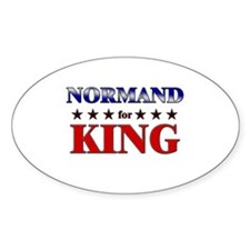 NORMAND for king Oval Decal