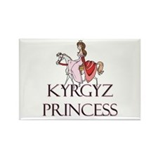 Cute Kyrgyz girls Rectangle Magnet