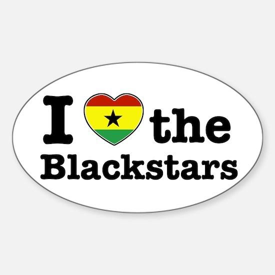 I love the Black Stars Oval Decal